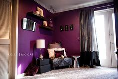 Someday, there will be a purple room in our house.. Knowing the hubbs.. It will probably be my craft room lol.