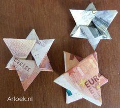 Kindertraktaties: Sterretje vouwen van een geldbiljet