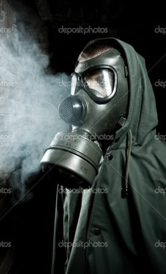Hooded Gas Mask