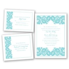 Printed Lace Wedding Invitation Bundle - Budget, Value, Inexpensive at Invitations By David's Bridal