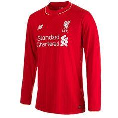 9c2af39a1 New Balance Liverpool Home Shirt 2015 16 - Long Sleeve Red Liverpool Home  Shirt 2015