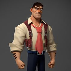 Character i've done to study Modelling, Texture and Shaders  Concept artist: Johannes Helgeson https://www.artstation.com/artist/helgesonart