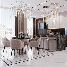 Kitchen Room Design, Home Room Design, Modern Kitchen Design, Dining Room Design, Home Decor Kitchen, Modern Interior Design, Interior Design Inspiration, Interior Design Living Room, House Design