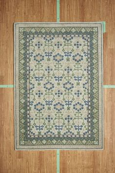"5' 3"" x 7' 7"" Green Blue Multi-Color Contemporary Hand Tufted Wool Area Rug SALE"