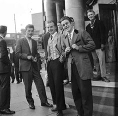 There was a rough edge to the Teddy Boy movement.   17 Vintage Pictures Of Dapper British Teddy Boys And Girls