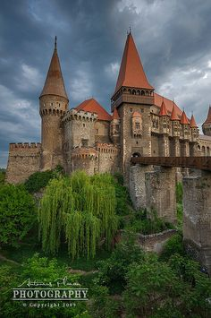 The Huniad Castle is a Gothic-Renaissance castle in Hunedoara (Transylvania), present-day Romania ~ By Antonius Plaian