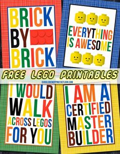 Free Lego Printables Valentine Ideas