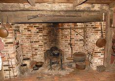 Fireplace at Historic Potters Tavern, Bridgeton, New Jersey.  Photo by Sam Feinstein.