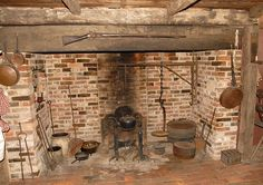Fireplace at Historic Potters Tavern, Bridgeton, New Jersey.  Photo by Sam Feinstein.
