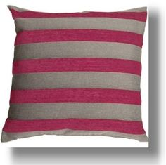 Image detail for -Hot Pink Grey Stripes Throw Pillow