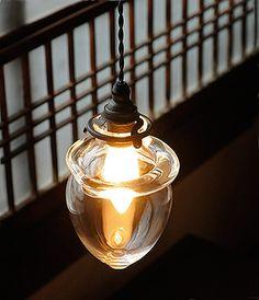 Hand-blown Glass Lamp