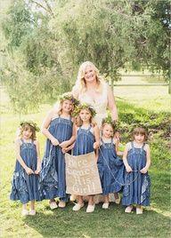 denim dresses for the flower girls