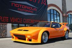 DeTomaso Pantera. Saw about 50 of these on the road during a show at Carmel once. Awe inspiring indeed.