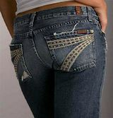 Seven for all Mankind. The most flattering jeans of all. Plus they have fun back pockets.