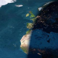 Composite picture of earth showing day and night.
