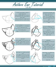 Anthro Ear Tutorial by Nix -- Fur Affinity [dot] net