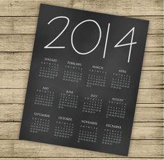INSTANT DOWNLOAD  Printable 2014 calendar  8x10 by ByYolanda, €3.00