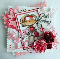 CARDSUNDMORE, Kraftin Kimmie Stamps, Its a girl, baby shower, card Magnoliadies, cardsundmoreshopblog, cardsundmoredesignteam