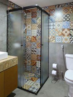 decoração de lavabos pequenos com azulejos hidraulicos - Pesquisa Google