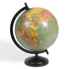 Globe bleu Vintage sur pied Maison du Monde 19,99€