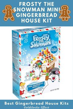 Frosty the Snowman Mini Gingerbread House Kit includes Pre-Baked Gingerbread, Pre-Made Icing, Candy Jewels, Fruity Gummies & Scene Setters. From traditional gingerbread houses to campers, trains and lighthouses, we've found some truly unique gingerbread decorating kits. #gingerbreadhouse #gingerbread #gingerbreadhousekit #frostythesnowman #frosty #vintagechristmas Mini Gingerbread House Kit, Gingerbread Cookie Mix, Cardboard Gingerbread House, Cool Gingerbread Houses, Frosty The Snowmen, Snowman, Classic Holiday Movies, Pop Up Play, Types Of Candy