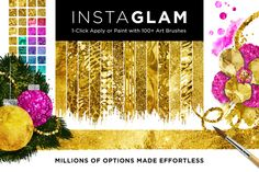 Check out InstaGlam PSD System: Glam+Gold Foil by Jessica Johnson on Creative Market