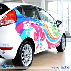 Car wrapping with Digital Print Film #digitalprint #carwrapping #selfadhesive…