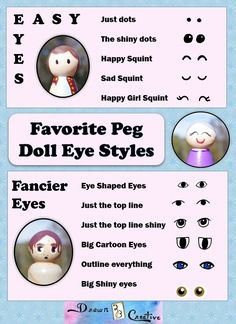 Peg Doll Eyes by Kristen...you can print the guide