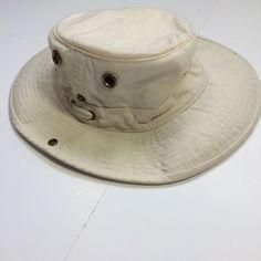 ccf476d441ec8 TILLEY Hat beige green buttons string 7 3 8 Cotton medium outdoors duck hat  #fashion