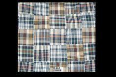 Madras check patchwork fabric