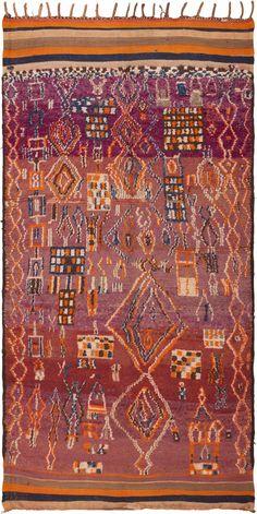 Vintage Moroccan Rug 45989