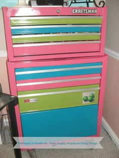 repurposed furniture ideas | Repurposed tool chest for jewelry | Upcycled furniture and ideas