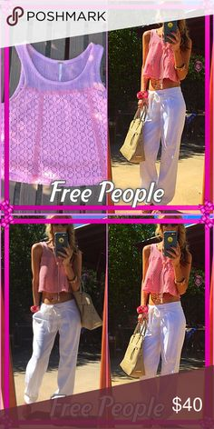👛Free👛 Super dainty baby pink Free People XS playful gorgeous mini top👛. One side is highlighted but real color is one the left baby pink. Sweet as candy my posh beauties!. Free People Tops