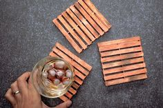 Make Mini Pallet Coasters From Popsicle Sticks | DIY Ready