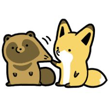 Resultado de imagen para raccoon  fox