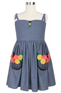 Rockabilly Baby Spring Bud Dress in Embroidery in Bloom