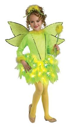 Our Girls Sparkle Fairy #Costume will be a hit at any Halloween party or trick or treating adventure. Everyone will rave about this Fairy Costume, which is the perfect costume for any Halloween event. The Sparkle Fairy Girls costume includes, light-up fiber Optic fairy dress, wand, headpiece and wings. Additional Fairy themed costumes and accessories are available and sold separately.