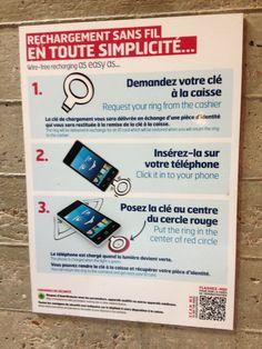 QR code pour aide à la recharge d'un portable #QRCode #QR