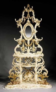 """926: French Iron Hallstand signed """"Charleville"""" : Lot 926"""