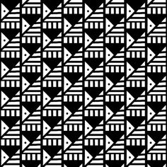 Tilted Pyramids Black White fabric by sugar_bean on Spoonflower - custom fabric