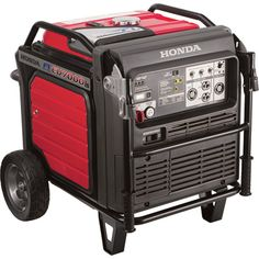 Honda EU7000 Portable Generator U2014 7000 Surge Watts, 5500 Rated Watts,  Electric Start, CARB Compliant, Model# EU7000