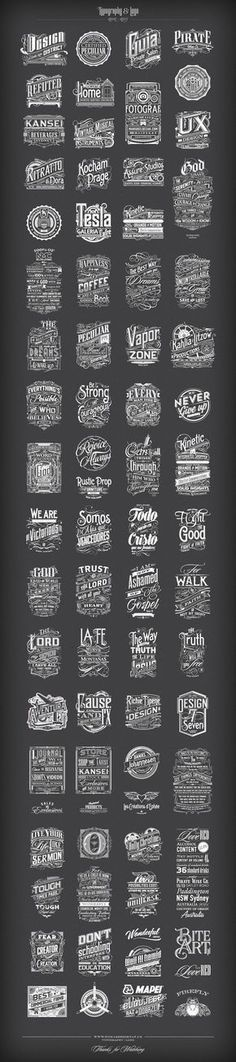 Typography   Logo 2012-2015 on Behance