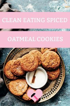 Oats, warm spices and chopped apples. I love these because it has a cake like texture but at the same time satisfying your cookie cravings with bits of crunch in it! Healthy Sweets, Healthy Baking, Healthy Snacks, Vegan Baking, Baking Recipes, Cookie Recipes, Dessert Recipes, Clean Eating Recipes, Clean Eating Snacks