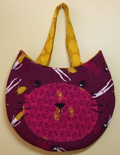 made for a craft show I did last year.  Pattern by Melly & Me.  #cat #purse