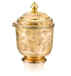 An Ottoman gilt-copper (tombak) lidded cup, Turkey, 18th/19th century