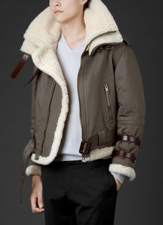 Topman have released their interpretation of the traditional aviator jacket ...