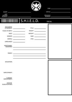 S.H.I.E.L.D. Application Form