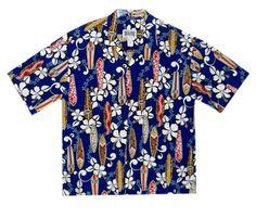 Aloha Hawaiian Shirt Size 2X Coconut Buttons Surfboards Hibiscus Surfing Lei  #IslandStyleDesign #Hawaiian