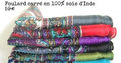 Vente de magnifique foulard carré en soie femme et homme pas cher. Achat de joli foulard carré de soie naturelle,100 % pure soie mode et tendance à petit prix.