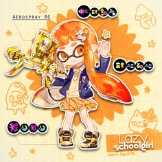 <3 Not perfect but some squid setups i like to use for ranked!! I-i-i like being in the front lines #Inkling